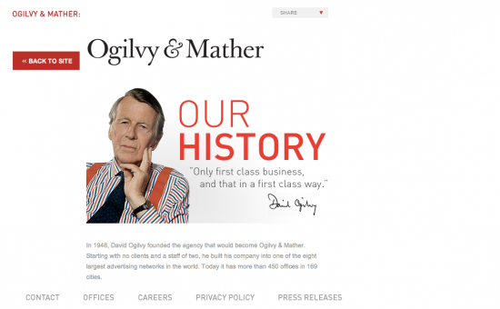 David Ogilvy ad agency new business content marketing