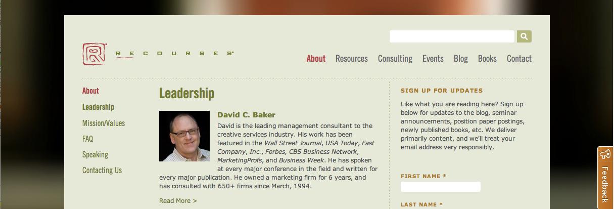 Recourses David Baker