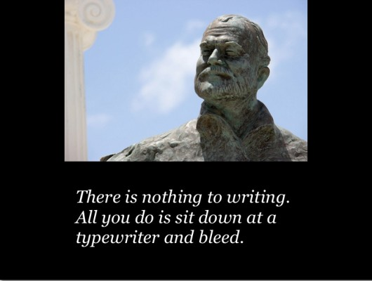 ernest hemingway on content marketing