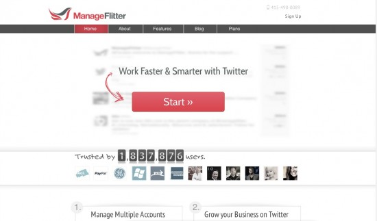 manageflitter to grow your Twitter following