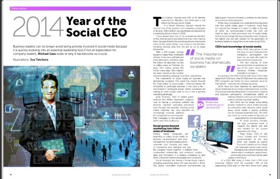 2014 Year of the Social CEO Michael Gass