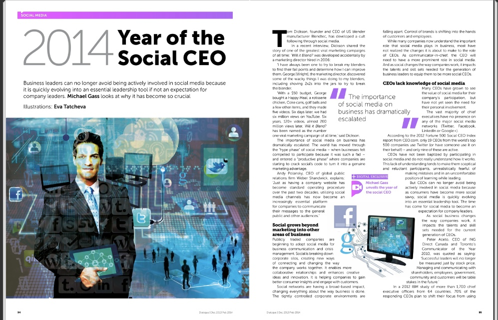 2014 The Year of the Social CEO
