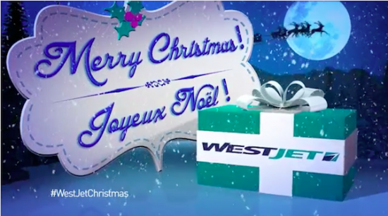 advertising westjet christmas miracle