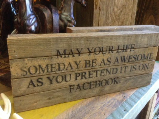 quote: may your day one day be as awsome as you pretend it is on Facebook