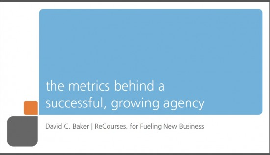 successful ad agency metrics for new business