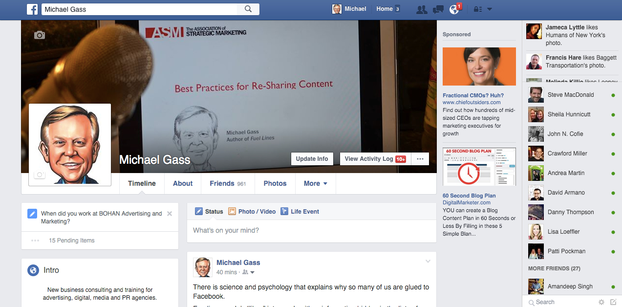 Use your personal facebook profile for ad agency new for Ad agency profile